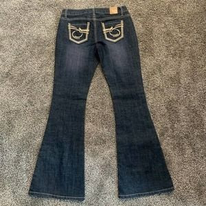 Tyte American Star Dark Wash Flare Jeans Size 3